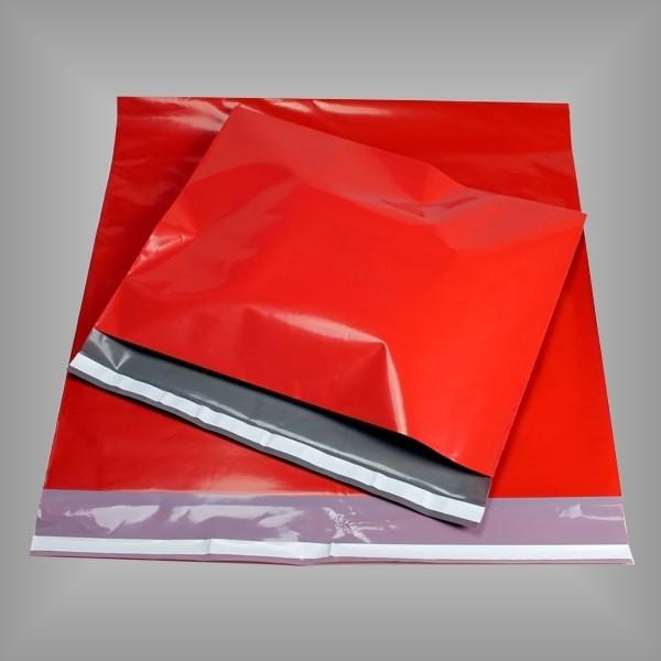 Folienversandtaschen rot 100 Stück, versch. Größen
