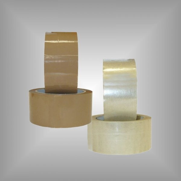 6 Klebebänder braun oder transparent 50 mm