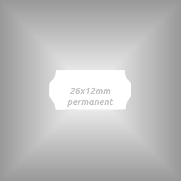 Preisauszeichner Etiketten 26x12mm, 10 Rollen