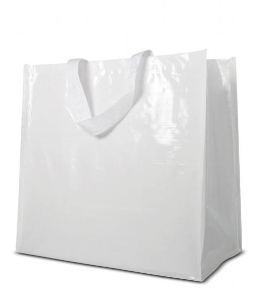 Woventragetaschen 46x44+25cm weiß, 1-farbig bedruckt