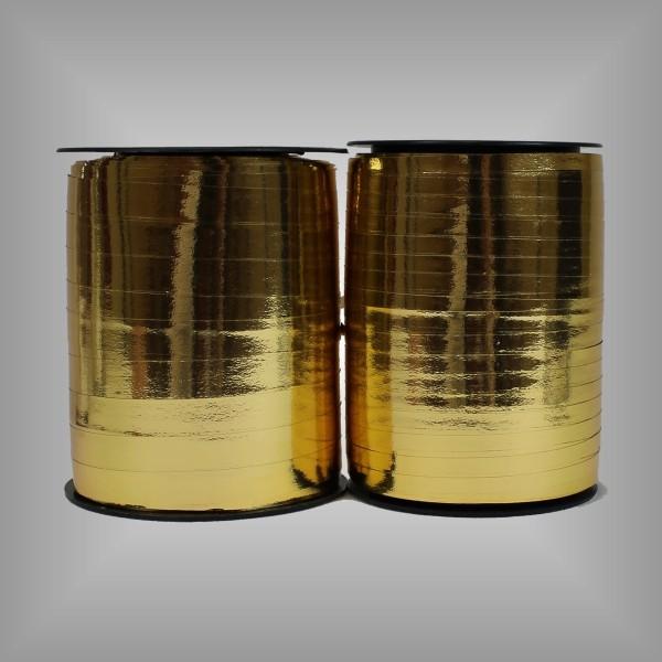 Kräuselband Metall Gold versch. breiten