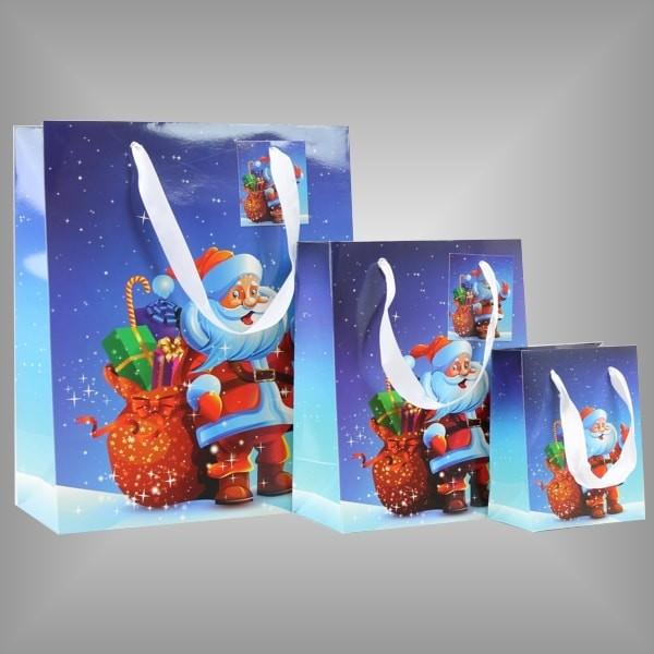 """12 Lacktaschen aus Papier, Motiv """"Weihnachtsmann"""""""