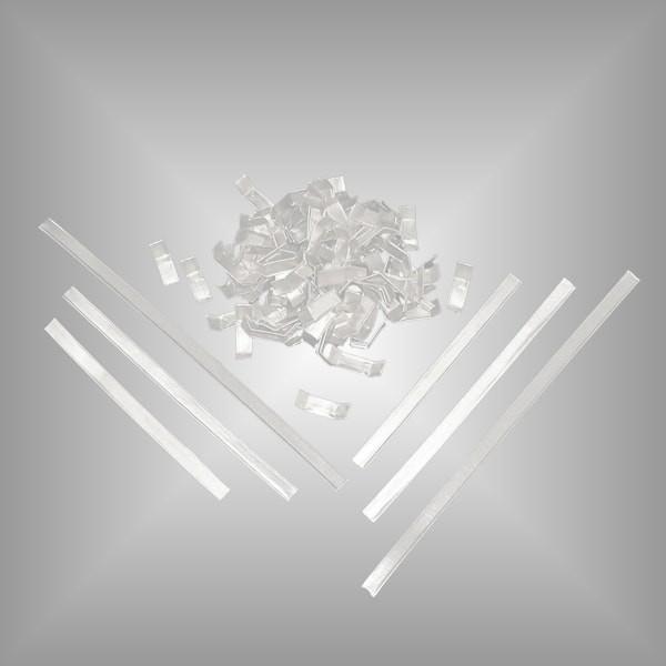 1000 Verschlussclips weiß, versch. Längen