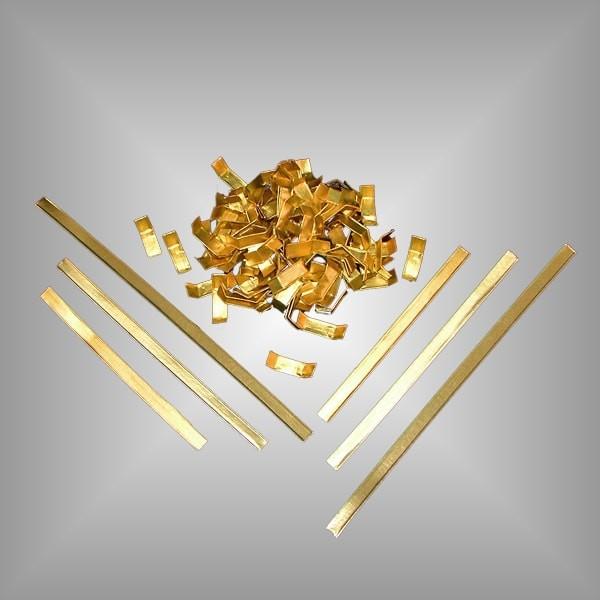 1000 Verschlussclips gold, versch. Längen