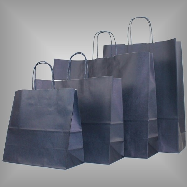 Papiertragetaschen nachtblau, versch. Größen