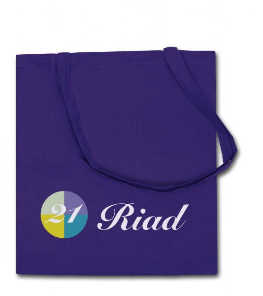 Baumwolltragetaschen 38x42cm, 2-farbig bedruckt