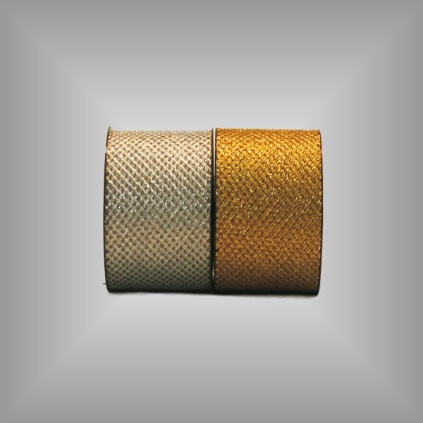 Tüllband metallisiert 75mm breit, 20m Rolle