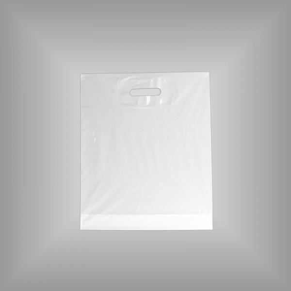 500 Plastiktüten weiß 37x43+5cm