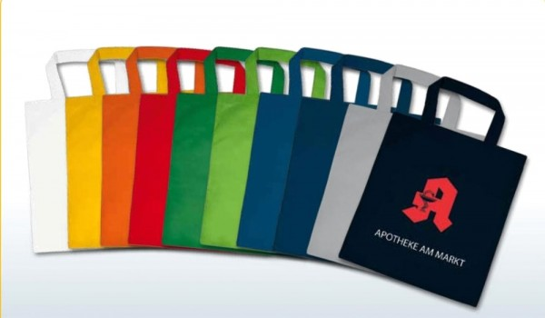 Textiltragetaschen 22x26cm, 1-farbig bedruckt